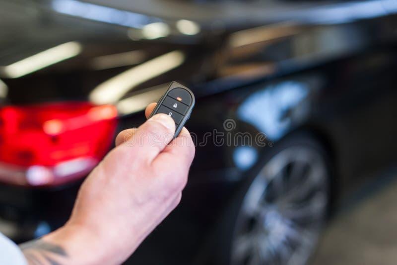 Tangent för system för bilsäkerhetslarm arkivbild