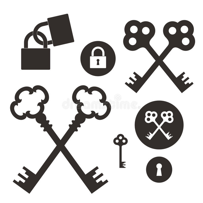 tangent lås Vektor i CMYK-funktionsläge royaltyfri illustrationer