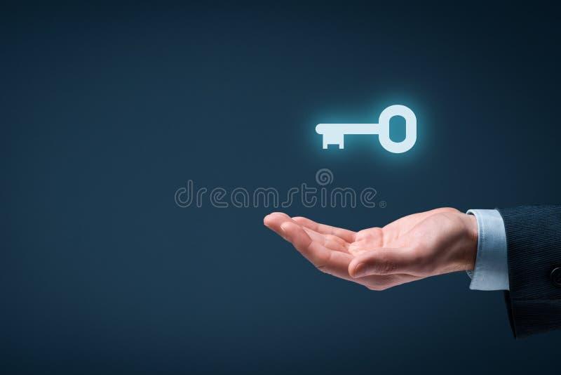 Tangent till framgång eller lösningen arkivbild