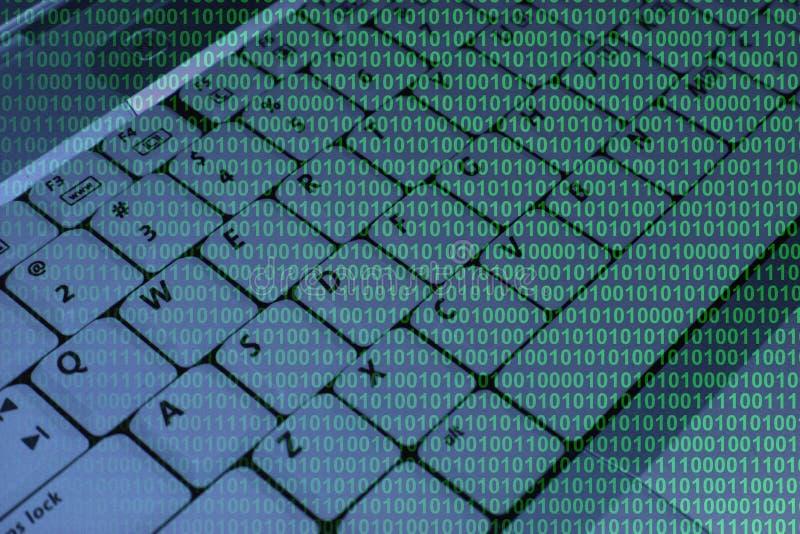 tangentbord för binär kod royaltyfri foto