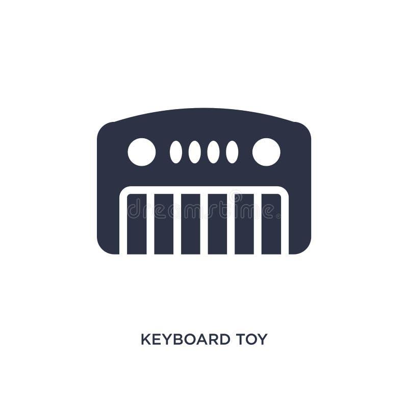 tangentbordleksaksymbol på vit bakgrund Enkel beståndsdelillustration från leksakerbegrepp vektor illustrationer