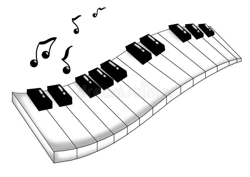 tangentbordmusikal vektor illustrationer
