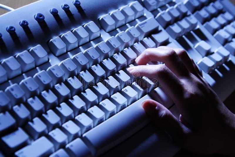 tangentbordskrivande arkivfoton
