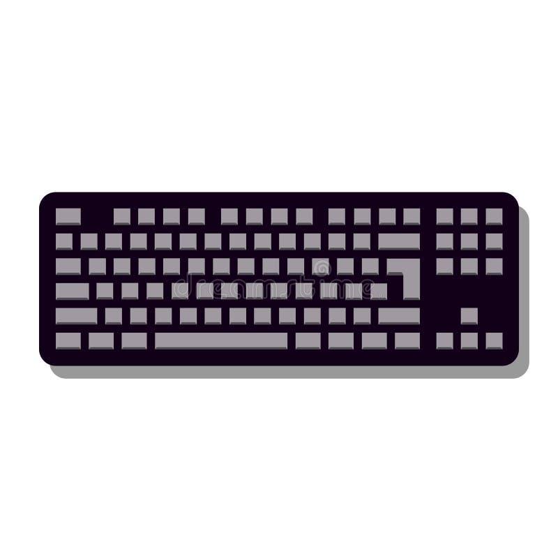 Tangentbordsymbol i moderiktig plan stil som isoleras på grå bakgrund, för din webbplatsdesign, app, logo, UI vektor royaltyfri illustrationer