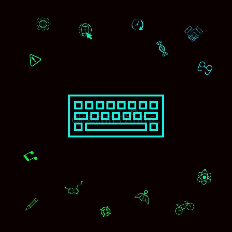 Tangentbordsymbolssymbol Grafiska beståndsdelar för din designt stock illustrationer