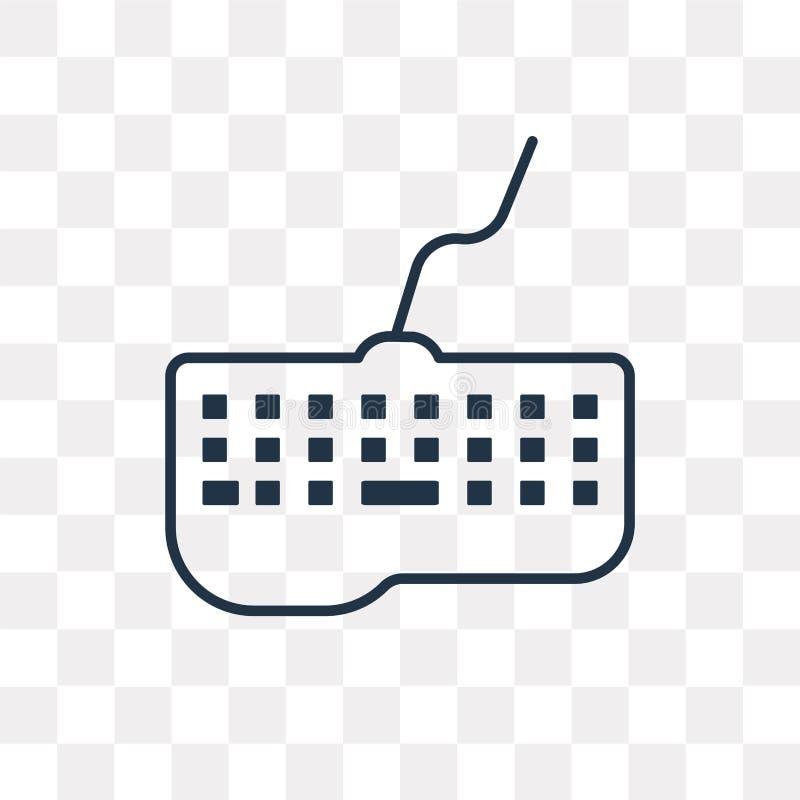Tangentbordvektorsymbol som isoleras på genomskinlig bakgrund som är linjär vektor illustrationer