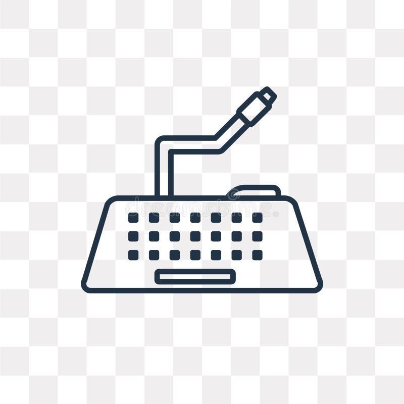 Tangentbordvektorsymbol som isoleras på genomskinlig bakgrund som är linjär stock illustrationer