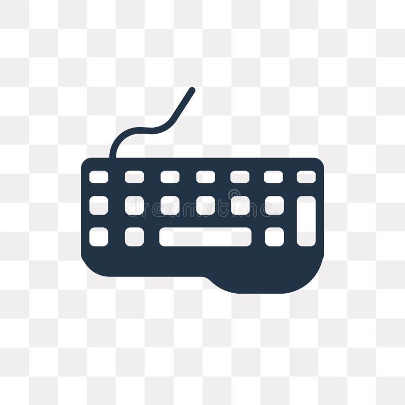 Tangentbordvektorsymbol som isoleras på genomskinlig bakgrund, Keyboar stock illustrationer