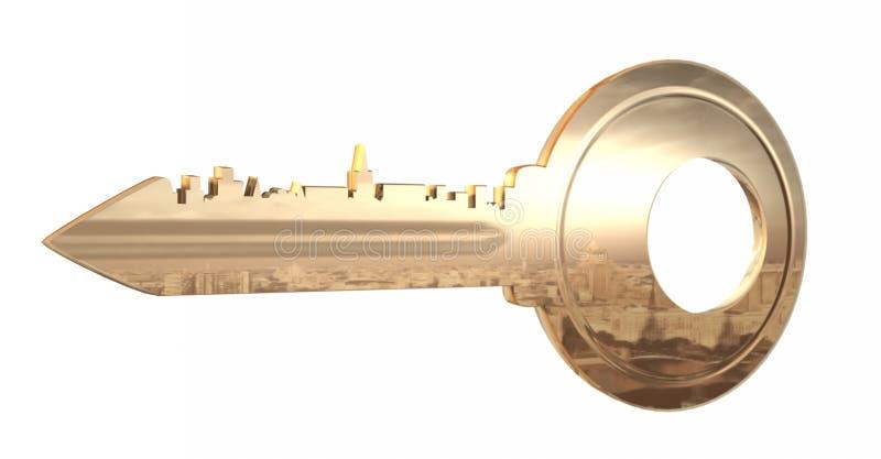 Tangenten till staden vektor illustrationer