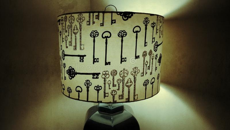 Tangentlampa för gammal stil arkivbild