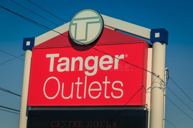 Tanger-Ausgang-Eingangs-Zeichen lizenzfreies stockbild