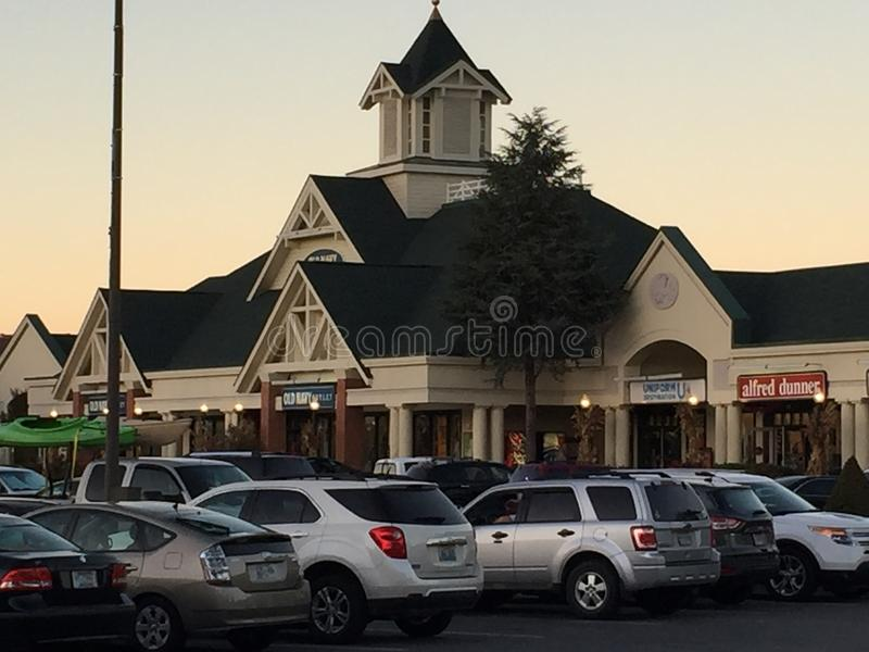 Tanger Outlets in Sevierville, Tennessee. In the USA stock photos