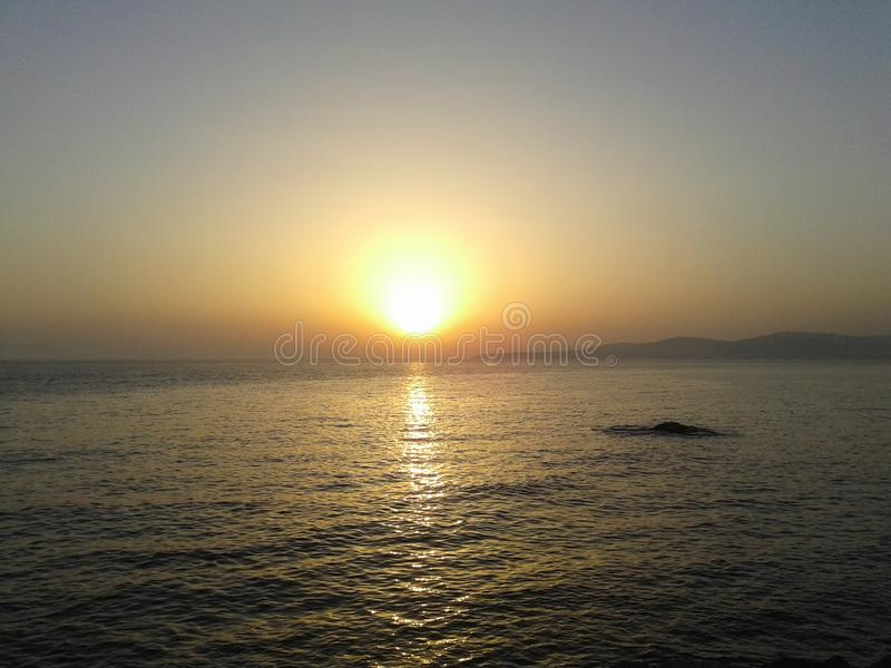Tanger-Sonnenuntergang stockfotos