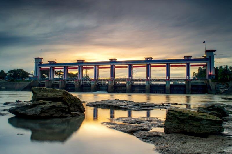 Tangerang del aire 10 del pintu de Jembatan foto de archivo libre de regalías