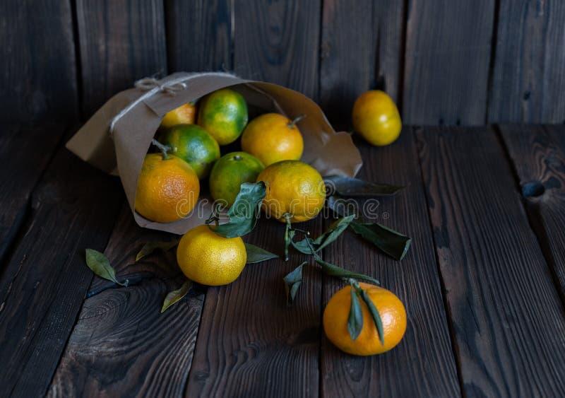 Tangerinapelsiner, mandariner, clementines, citrusfrukter royaltyfri fotografi