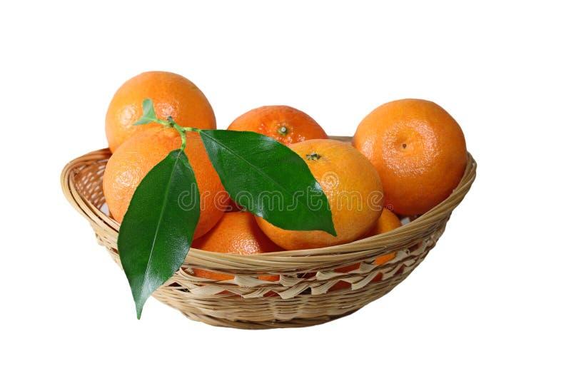 Tangerine καλάθι στοκ φωτογραφία με δικαίωμα ελεύθερης χρήσης