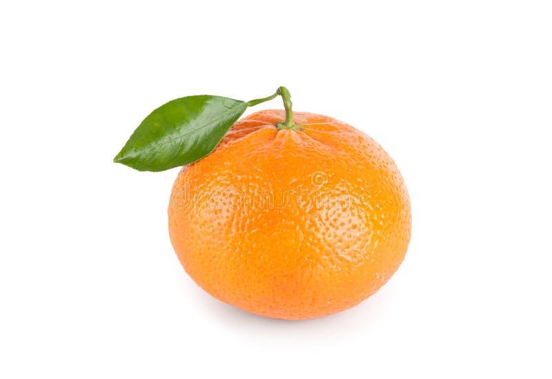Tangerine με το φύλλο στοκ φωτογραφίες
