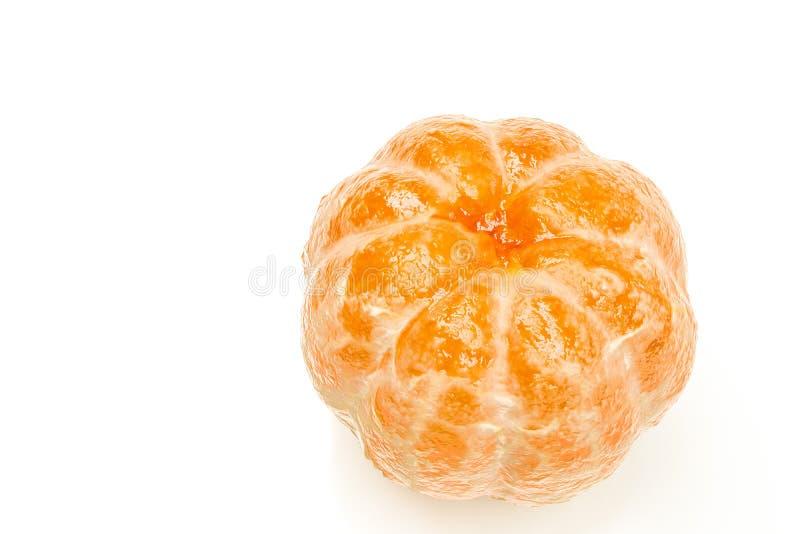 Tangerine που απομονώνεται στο άσπρο υπόβαθρο απεικόνιση αποθεμάτων