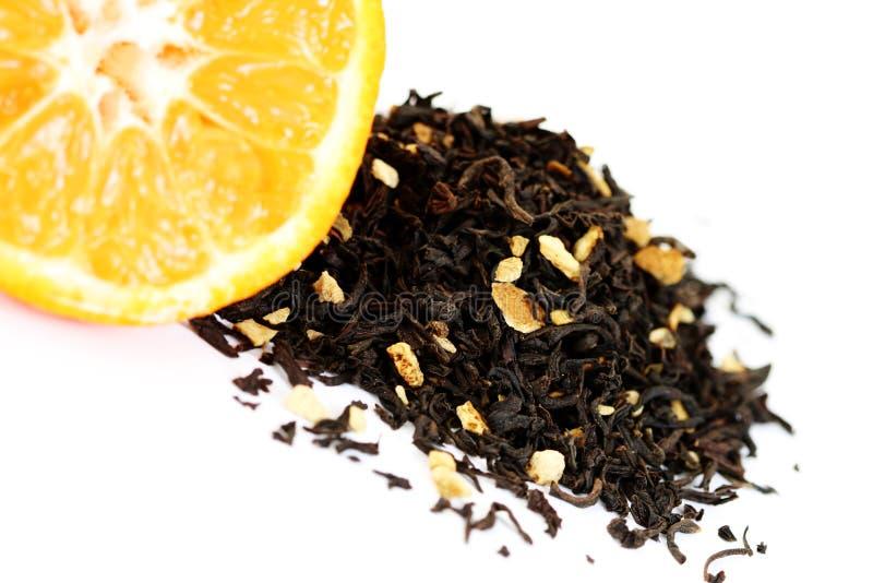 tangerine τσάι στοκ εικόνα με δικαίωμα ελεύθερης χρήσης