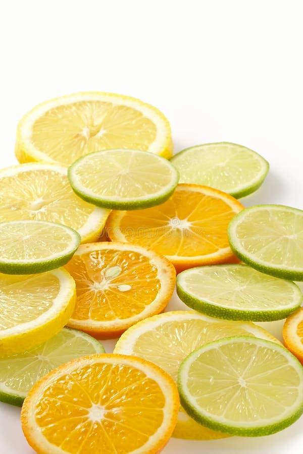 tangerine för limefrukt för allsorts citroncitron arkivfoton