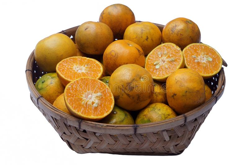Tangerine Mot κτυπήματος είναι μια τοπική ποικιλία του μανταρινιού που αυξάνεται στην περιοχή Mot κτυπήματος Thon Buri, Μπανγκόκ, στοκ εικόνες