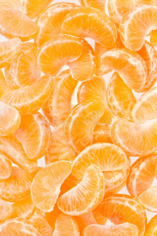 Tangerine, Orange segmentiert Hintergrund lizenzfreies stockfoto