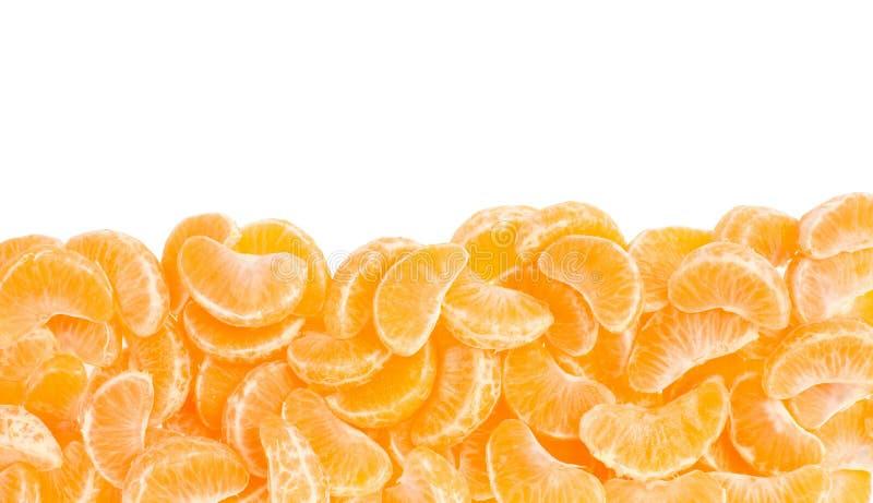 Tangerine, orange segments frame royalty free stock photography