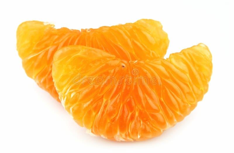 Tangerine segment. On a white background stock image