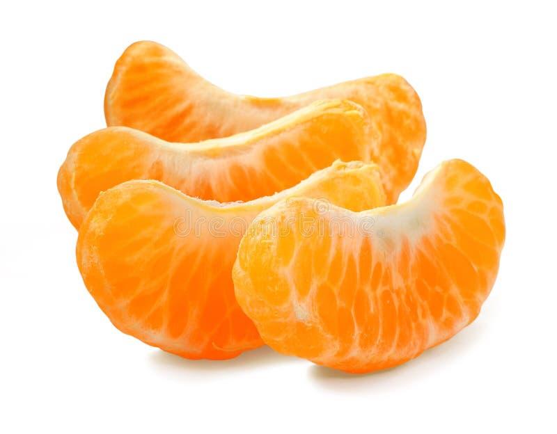 Tangerine segment. On white background royalty free stock photos