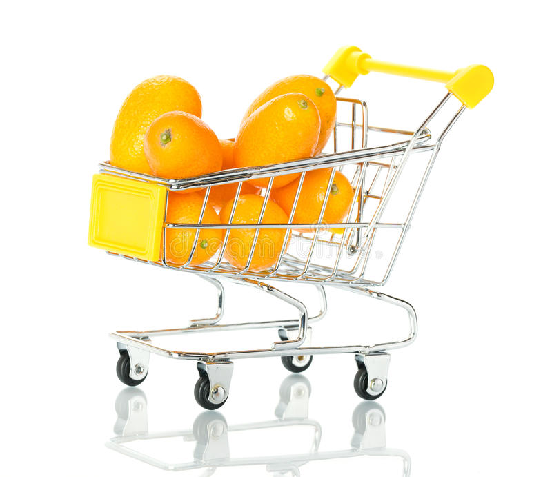 Download Tangerine In The Shopping Cart Stock Image - Image: 18280913