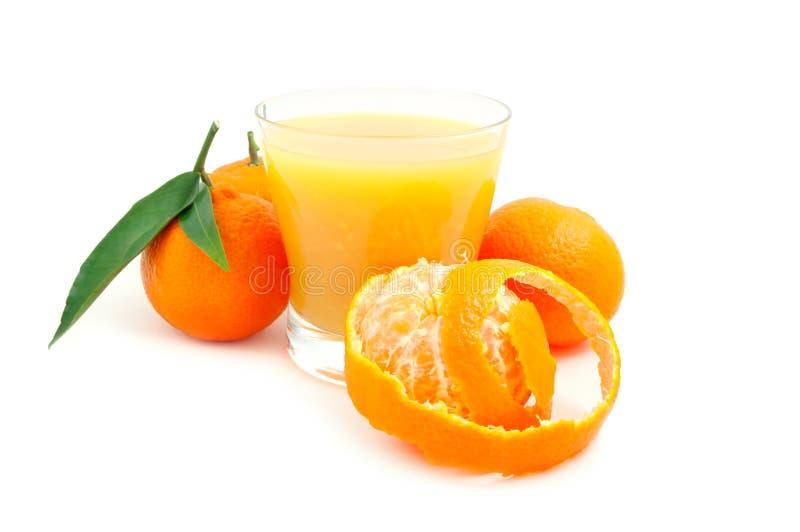 Tangerine und Saft stockfotos