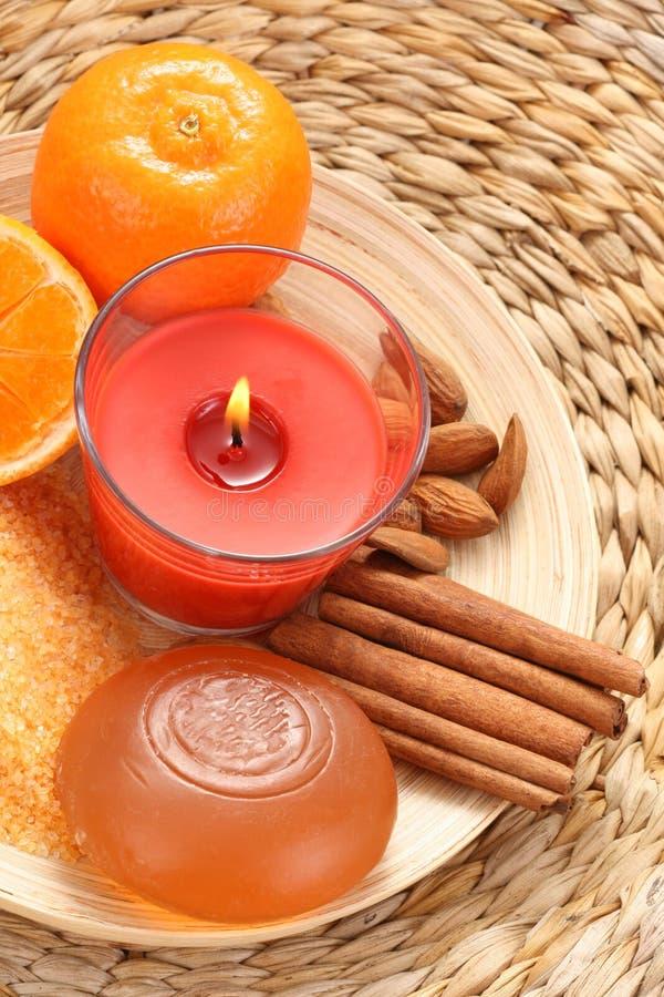 Tangerinebad lizenzfreie stockbilder