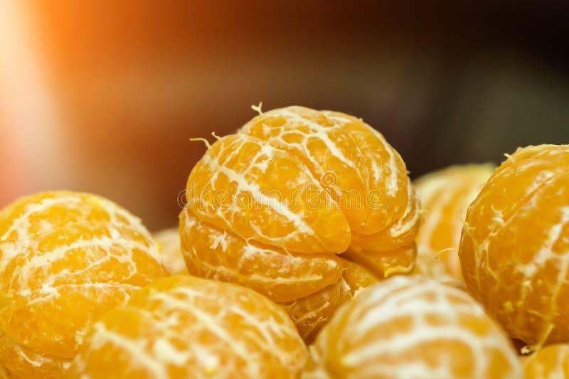 Tangerines без корки стоковая фотография rf