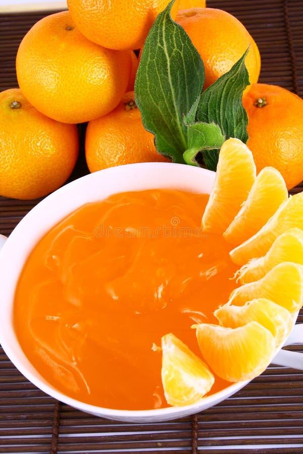 tangerines ζελατίνας στοκ εικόνες