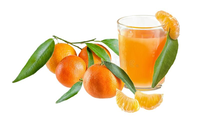 tangerines χυμού γυαλιού ανασκόπη στοκ εικόνα