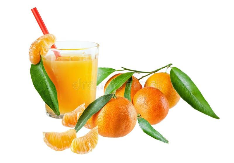 tangerines χυμού γυαλιού στοκ φωτογραφίες με δικαίωμα ελεύθερης χρήσης
