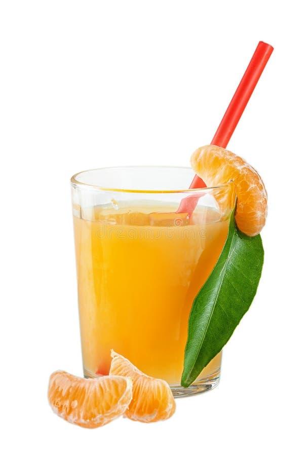 tangerines χυμού γυαλιού στοκ εικόνες