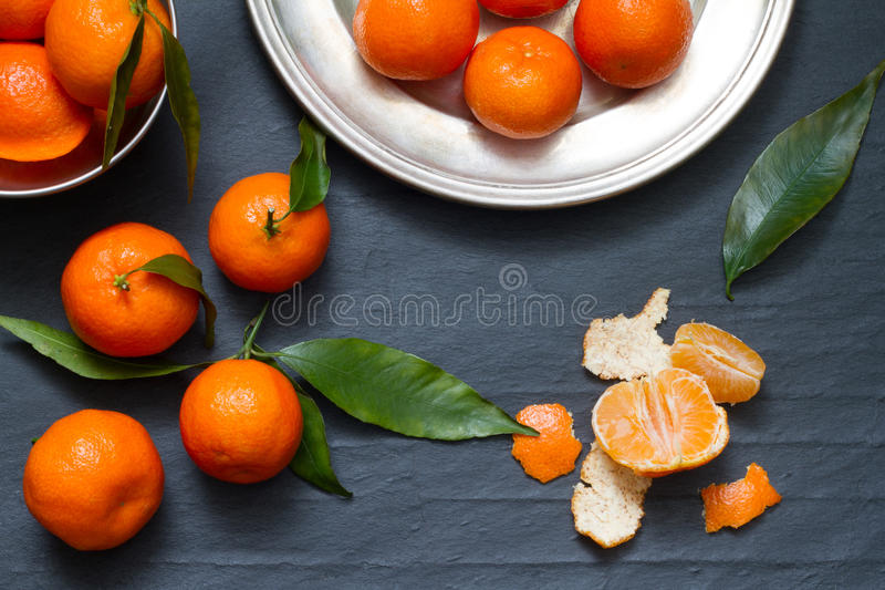 Tangerines abstract food still life. Concept royalty free stock photography