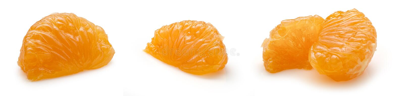 Tangerines lobule. Some views of tangerine's lobule on the white background stock image