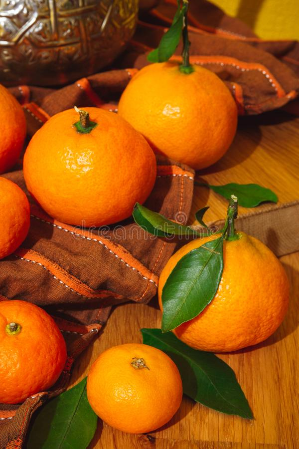 Tangerines from Morocco royalty free stock photos
