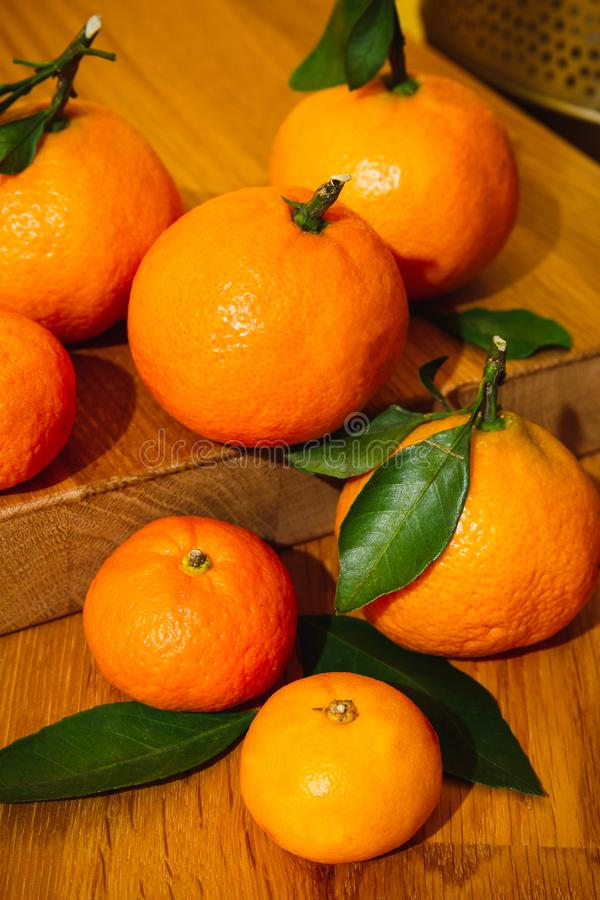 Tangerines from Morocco stock photography