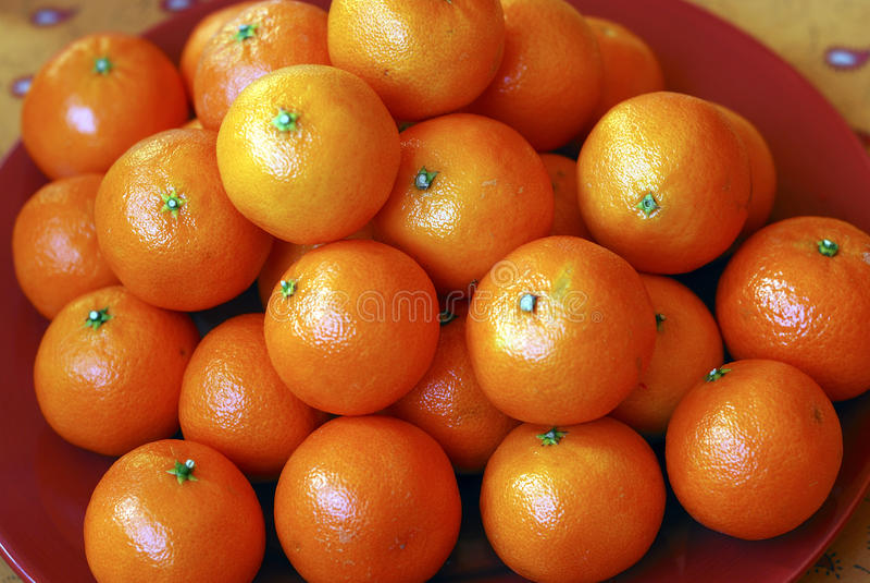 Tangerines pequenos imagem de stock