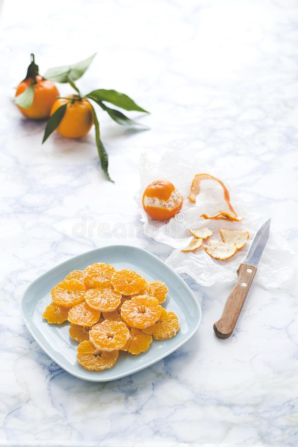 Tangerines salad royalty free stock photo
