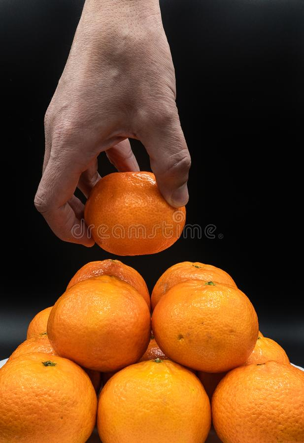 Tangerines from Spain royalty free stock images