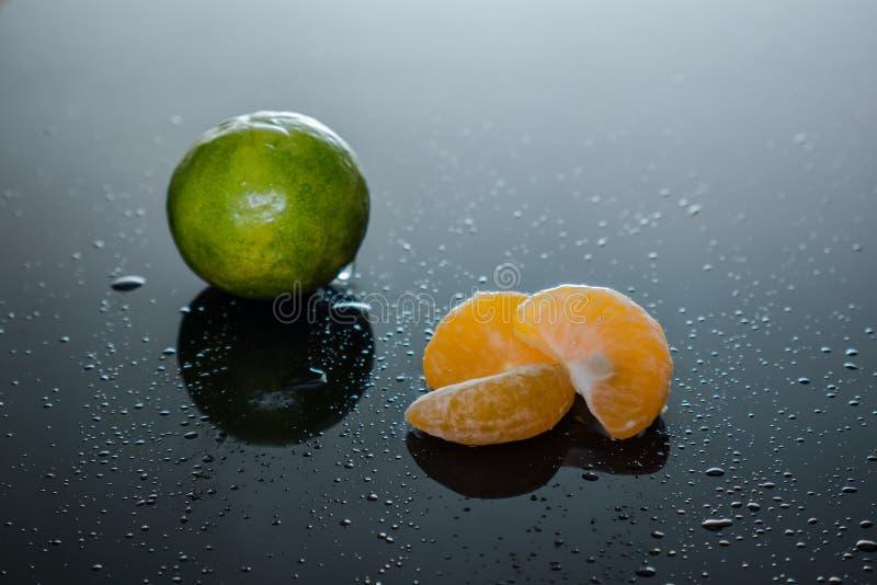 Tangerinescheiben lizenzfreie stockfotografie
