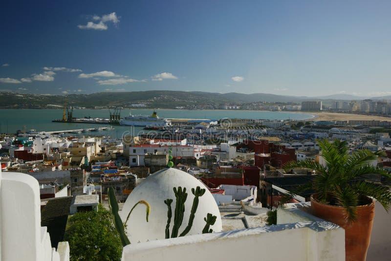 Tangier Harbor stock photo