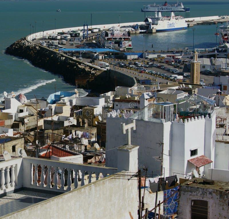 Tangier Harbor stock image