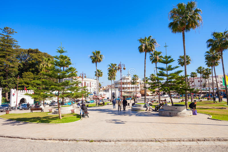 Tangier in Morocco stock photography