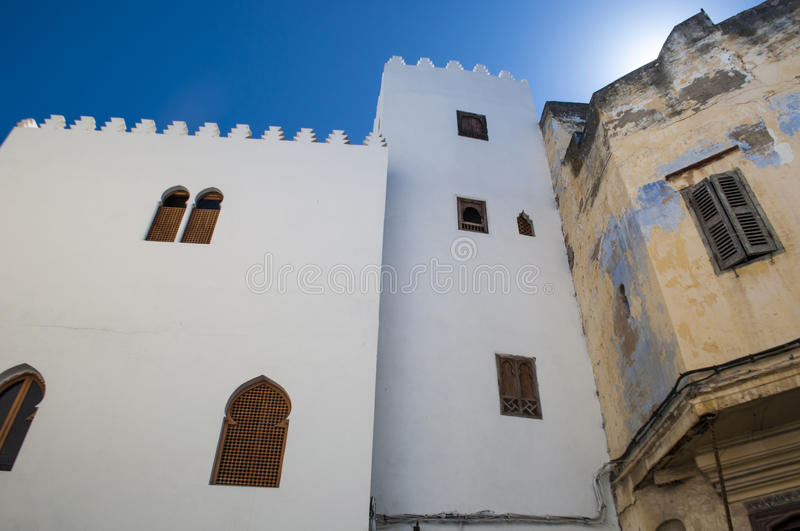 Tangier, Tangiers, Tanger, Morocco, Africa, North Africa, Maghreb coast, Strait of Gibraltar, Mediterranean Sea, Atlantic Ocean. Morocco, 22/04/2016: the narrow royalty free stock photography