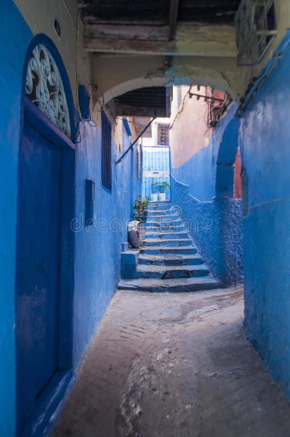 Tangier, Tangiers, Tanger, Morocco, Africa, North Africa, Maghreb coast, Strait of Gibraltar, Mediterranean Sea, Atlantic Ocean. Morocco, 22/04/2016: the narrow royalty free stock images